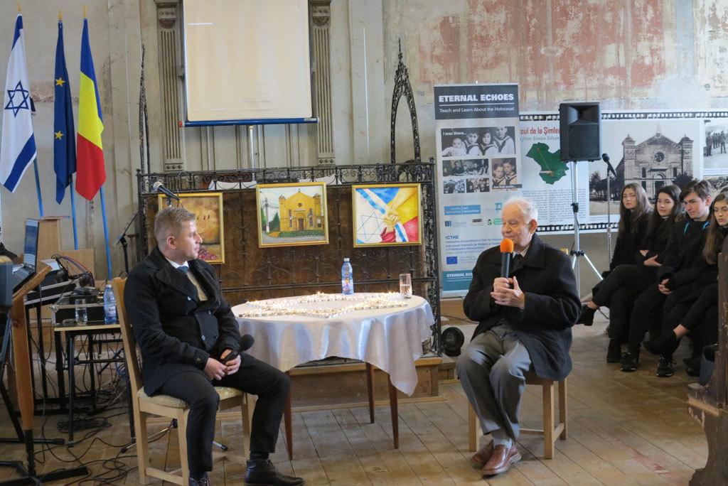 Mărturia cutremurătoare a supraviețuitorului Vasile Nussbaum și lansarea platformei digitale Eternal Echoes, cu ocazia Zilei Internaționale de Comemorare a Victimelor Holocaustului, la Șimleu Silvaniei