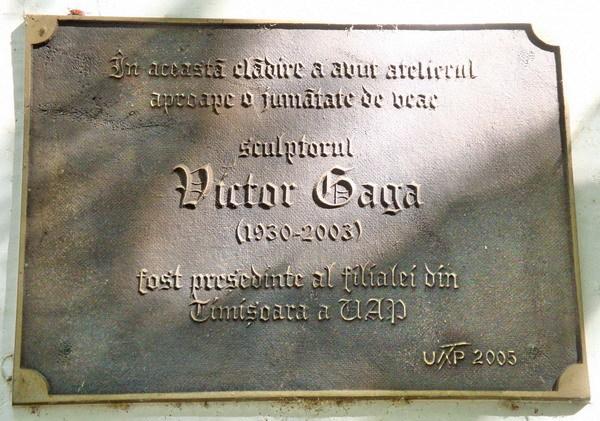 In memoriam Victor GAGA (sculptor, 13.02.1930 – 26.07.2003)