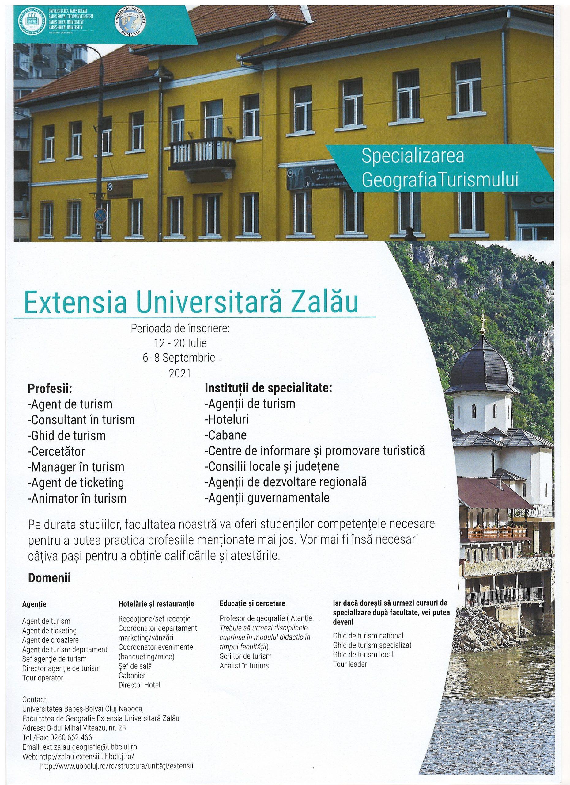 Oferta educațională a Facultății de Geografie din cadrul Universității Babeș-Bolyai